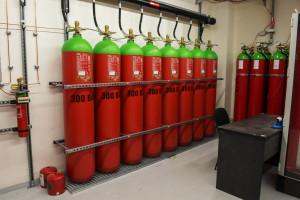 bomby s hasicím plynem