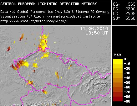 detektor blesků ČHMÚ