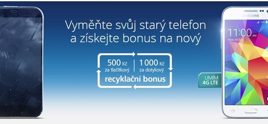 LTE telefon levněji. Stačí u nás zrecyklovat starý mobil