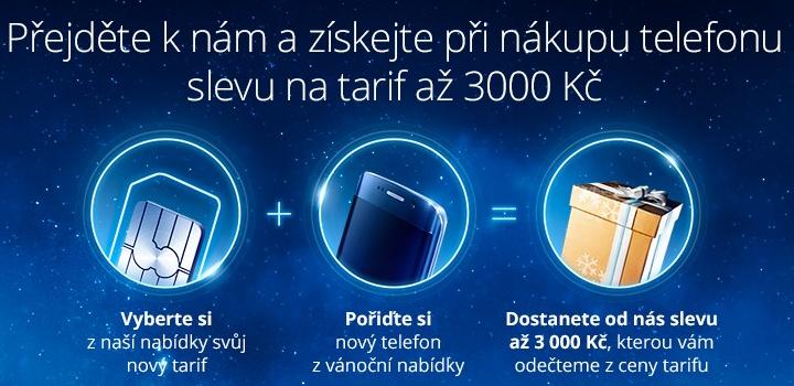 LTE Vánoce s bonusem k tarifům za koupi telefonu
