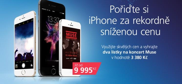 iPhone nebyl nikdy levnější. Jeho koupí můžete získat i lístky na Muse