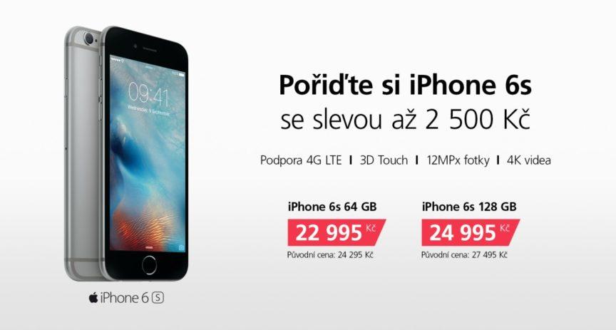 iPhone sezóna začíná, aktuální 6s máme se slevou až 2 500 korun