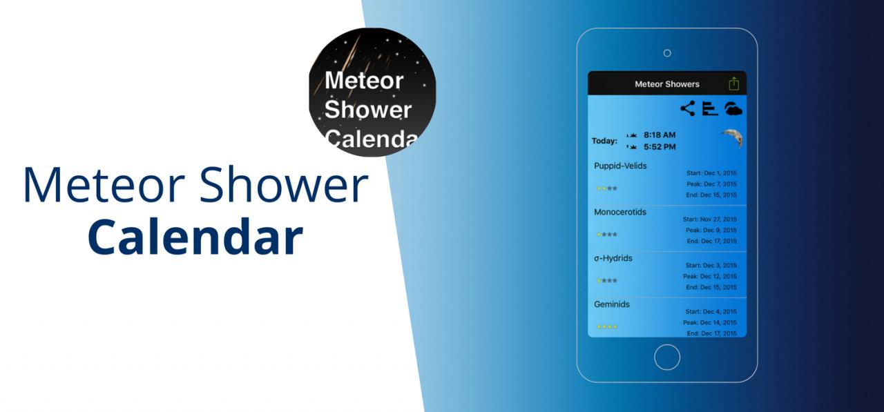 Meteor Shower Cal