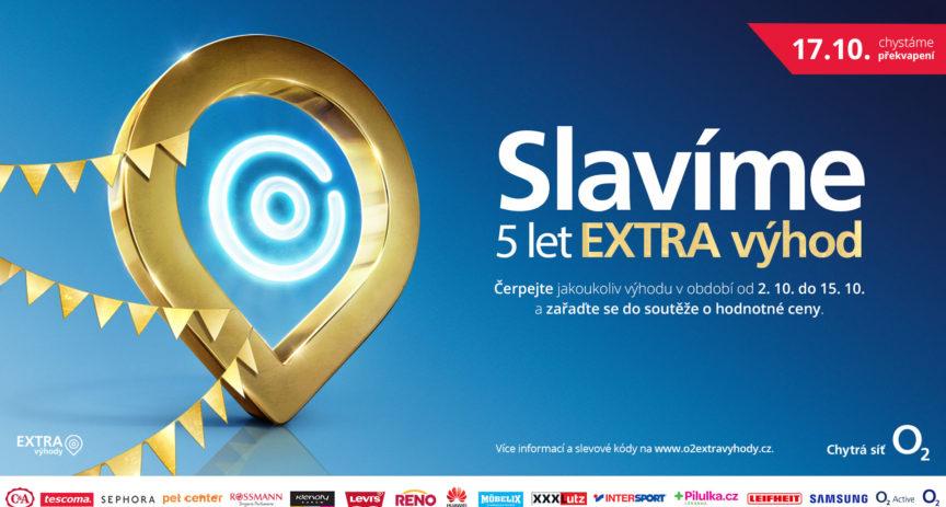 Oslavte s námi páté narozeniny programu O2 Extra výhody a vyhrajte hodnotné ceny