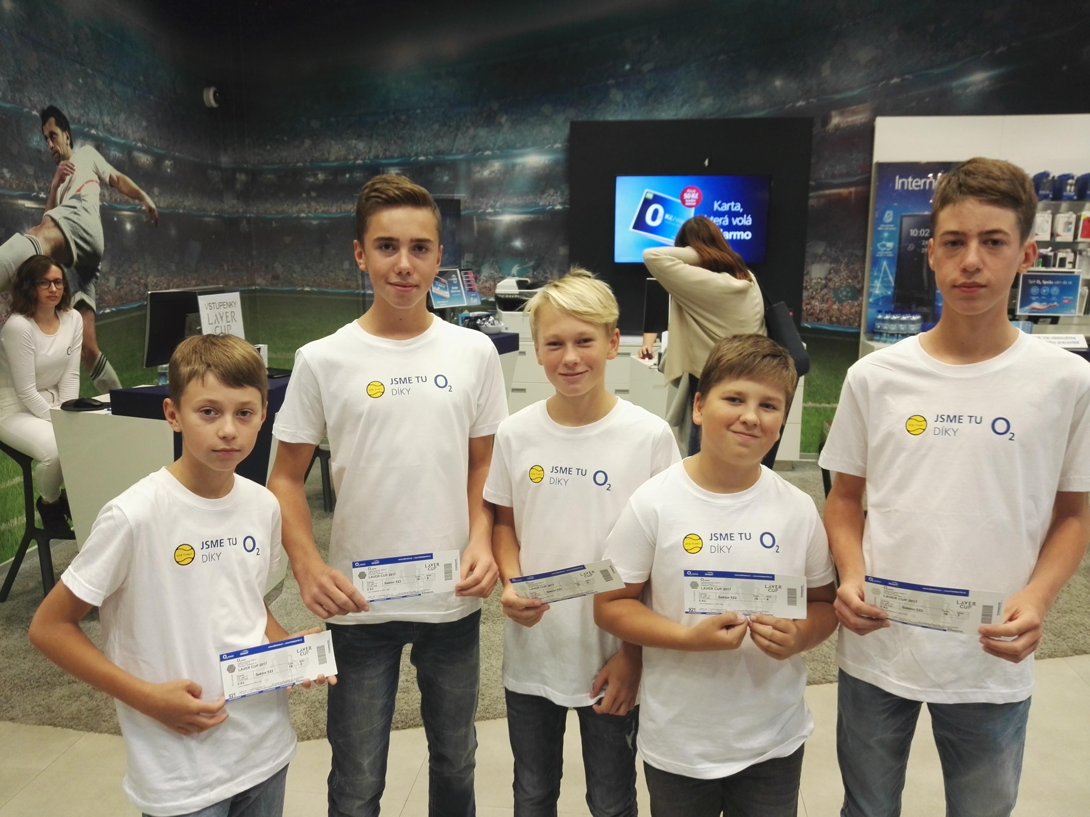 Lístky na Laver Cup přinesly radost i dětským tenisovým nadějím