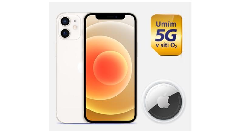iPhone 12 mini pro vás máme se slevou 2000 korun a šikovným AirTagem za 1 Kč